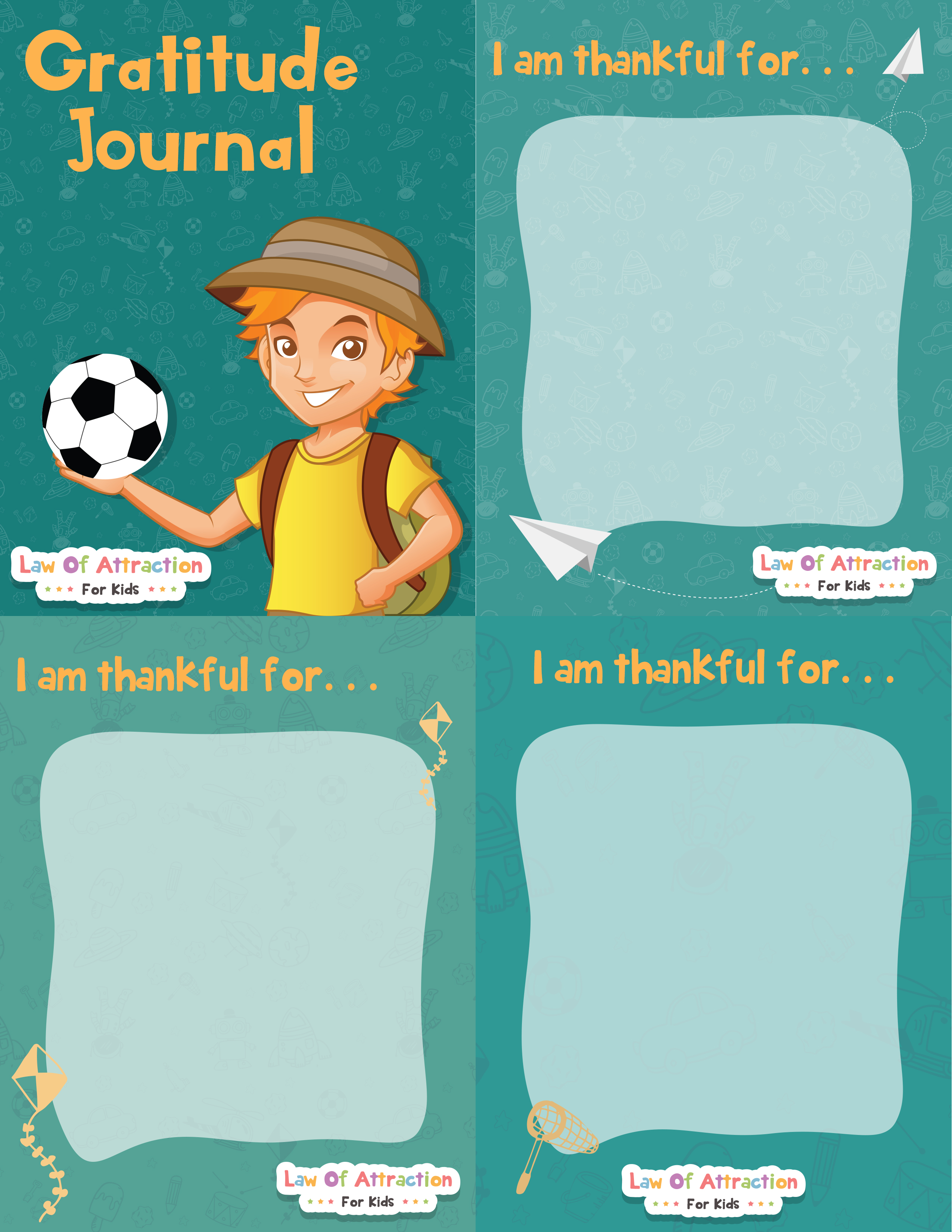 FREE Gratitude Journal for Boys  Law of Attraction